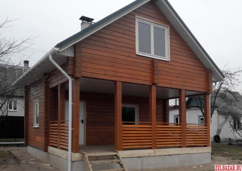 Покраска домов из бруса